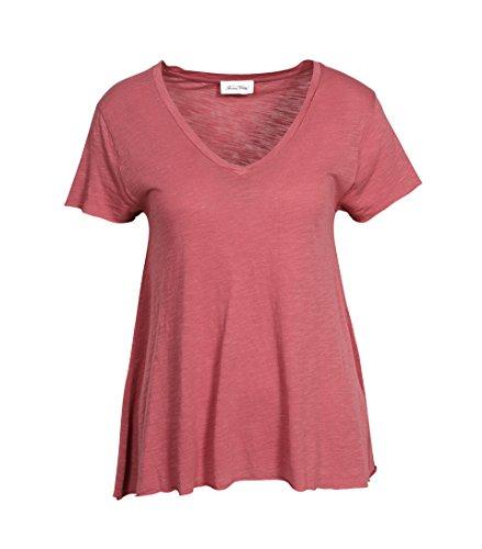 American Vintage Damen Shirt Jacksonville in Zartem Rostrot peche de vigne