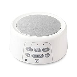 White Noise Machine for Sleeping, SUPSOO White Sleep Fan Sound Machine Portable Travel Noisemakers with Non-Looping Soothing Sounds for Baby Adults Sleeping, Built in Timer