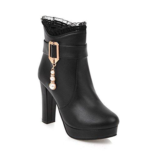BalaMasa Abl10633, Sandales Compensées Femme Noir