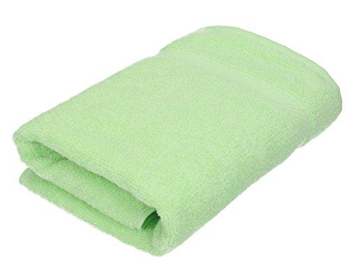 BETZ Serviette de Toilette Taille 50 x 100 cm 100% Coton Palermo Rose Turquoise Vert Abricot ou Gris Anthracite Couleur Vert