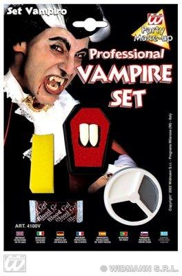 Zähne Schminke und Blut Theaterblut für Halloween Horror Party Farsching Karneval (Vampirzähne Mit Blut)