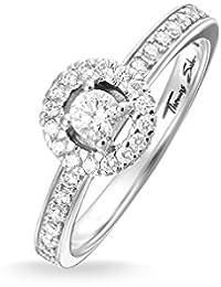 THOMAS SABO Damen Ring TR1975-051-14 Eternity Ring 925er Sterlingsilber Zirkonia Pavé Weiß Silberfarben, Weiß