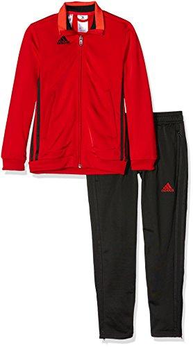 adidas Jungen Präsentationsanzug Condivo 16 PES Trainingsanzug Top: Scarlet Bottom Black, 140