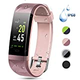 Best Cheap Fitness Trackers - Color Screen Fitness Tracker, Lintelek Activity tracker, IP68 Review