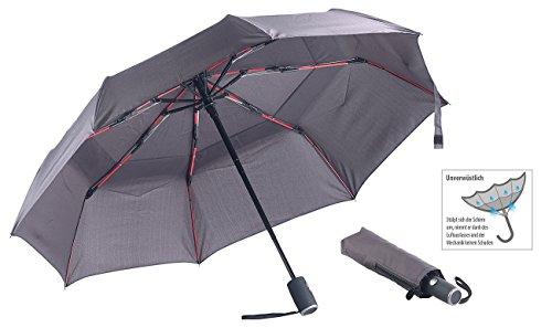 Carlo Milano Regenschirm: Taschenschirm, Teflon-Beschichtung 210 T, sicher bis 140 km/h, Ø 95cm (Sturmschirm) (Milano-umhängetasche)
