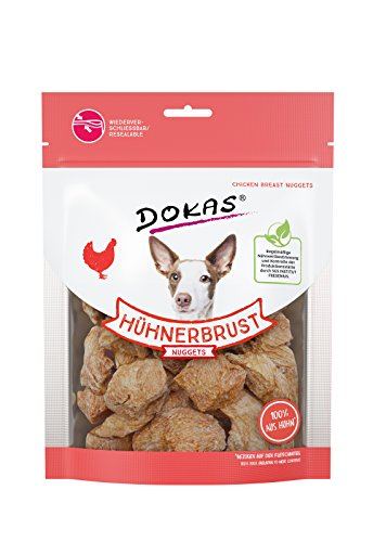 DOKAS Gefriergetrocknete Premium Nuggets für Hunde - Idealer Snack für zwischendurch -