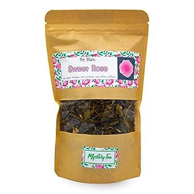 MysteryTea - SWEET ROSE - Thé Blanc saveur Vanille Rose - (Doypack 60g = 30 tasses) - 100% NATUREL