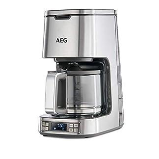 AEG-Kaffeemaschine-PremiumLine-7Series-KF-7800-HighContrast-LCD-Display-Programmierbarer-24h-Timer-Goldton-Kaffeefilter-15-L-Glaskanne-Warmhaltefunktion-Abschaltautomatik-Edelstahl