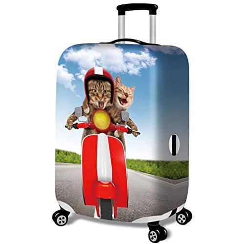 3D Gefängniskatze Cover Travel Kofferabdeckung Schlechte Katze Hülle Kofferschutz Luggage Cover Gepäckabdeckung Kofferschutzhülle fit 18-32inch Gepäck,Bad Cat 4,XL (29-32 Zoll)