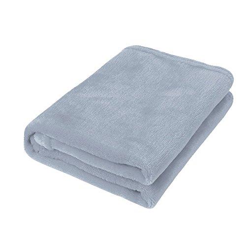Babydecke COLORFUL Micro Plüsch Fleecedecke, Super Weich Warm,Decke für Baby (Grau, 50 x 70 cm)
