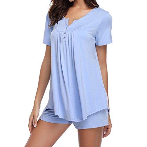 Mxssi Home Kleidung Frauen Pyjamas Zweiteiler Pijama Frauen Nachtwäsche Solid Night Suit Nachtwäsche