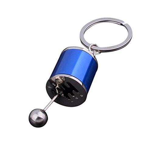 Schlüsselanhänger, Holeider Metall Schalthebel Gangschaltung Getriebe Stick Getriebe Schlüsselanhänger Auto Chrismas Geschenk (Blau) (Gürtel-hänger Schlüsselanhänger)