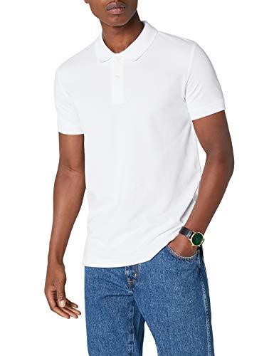ESPRIT Herren Poloshirt 998EE2K808 Weiß (White 100) Medium