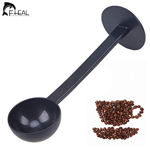 Fheal 2 IN 1 Kaffeepulver-Messpressen Scoop Standing Es-Pressen oder Kaffeepulverlöffel...