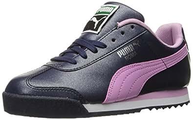 PUMA Kids' Roma Basic Glitter Jr Sneaker, Peacoat/Pastel Lavender, 7 M