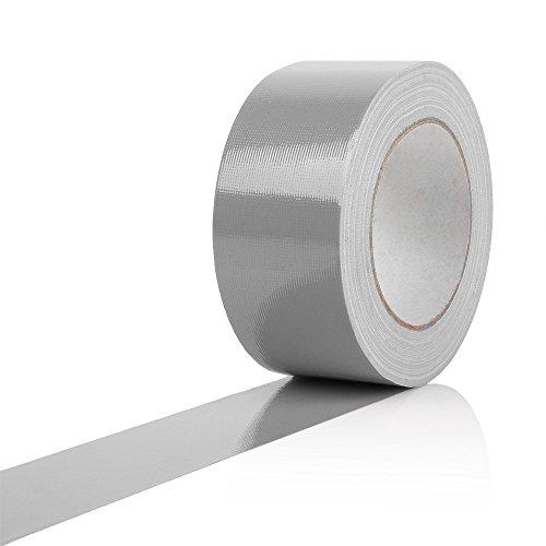 Gaffa / Gaffer Tape, Gewebeklebeband, Lasso, Panzertape, silber, RACEFOXX