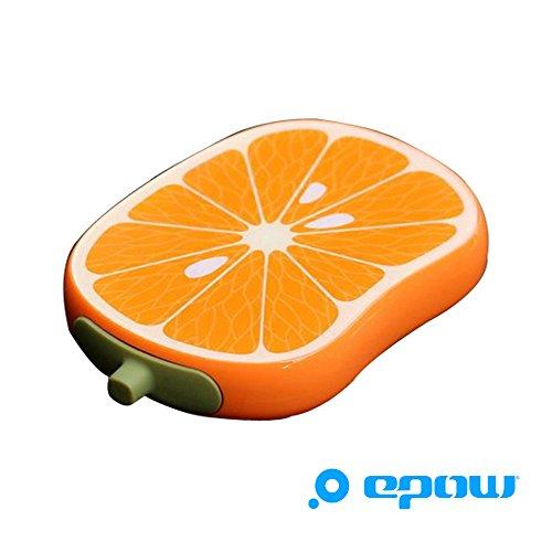 EPOW® Batterie externe Emoji Fruit Orange 6000mAh Type C, Chargeur de secours Power bank iPhone X/9/8/7 Plus Samsung S9/S8 Huawei P10/P9 & autres Smartphones