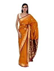 A1 Fashion Women Silk Yellow Saree With Blouse Piece