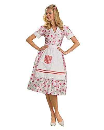 Hausfrauen 50 Kostüm - Horror-Shop 50's Hausfrauen Kostümkleid mit Kirschen One Size