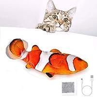 SOBW Katzenspielzeug Elektrisch Flippity Fish, Interaktiv Spielzeug FüR Katzen, Katzenspielzeug Mit Katzenminze, USB…