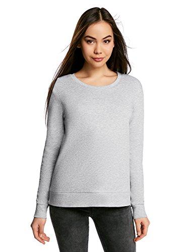 oodji-Ultra-Femme-Sweat-shirt-Droit-Basique-Gris-FR-34-XXS