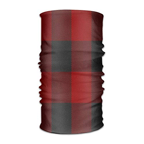 TEPEED Buffalo Plaid Red Unisex Sports Variety Scarf Head Scarf -