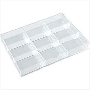 tecnostyl k9acrd040 s parateur pour tiroir trois compartiments en acrylique. Black Bedroom Furniture Sets. Home Design Ideas