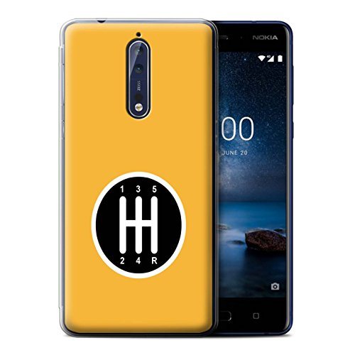 Stuff4 Gel TPU Hülle / Case für Nokia 8 / Getriebe/Schaltung Muster / Straßenrennen Kollektion (Getriebe Muster)