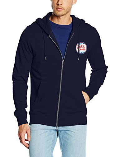 JACK & JONES Herren Jacke Jorbatch Sweat Zip Hood Blau (Navy Blazer Fit:REG HOOD - J&J BRANDING)