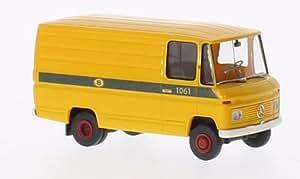 Mercedes L 406 D Van, voiture miniature, Miniature déjà montée, Brekina 1:87