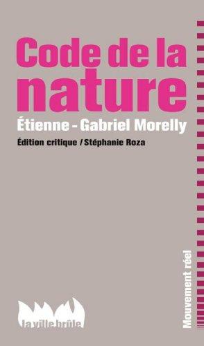 Le code de la nature par Etienne-Gabriel Morelly