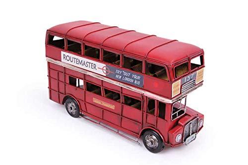 MNK Home Dekorativer Druckguss-Bus, aus Metall, mit London City Doppeldecker-Modell, ideal als Dekoration für Zuhause und als Gastgeschenke, Freunde und Familienmitglieder, Rot