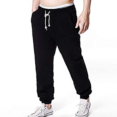 FIRSS-Herren Hosen Elastisch Jogginghose Kordelzug Sweatpants Cargo Trainingshose Arbeitshose Abriebfeste Slim Fit Outdoorhose