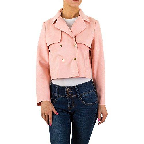 Velourslederoptik Jacke Für Damen bei Ital-Design Rosa