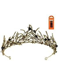 Corona Cristal Tiara con Diamantes Corona Cristal Nupcial Vintage Corona Princesa Tiara de Reina con Diamantes de Imitación Bodas y Fiestas de Tiara, Corona Princesa Tiara Novia con Horquillas