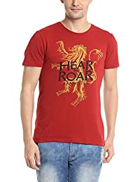 Game of Thrones Men's Deep Red Color Half Sleeve T-shirt