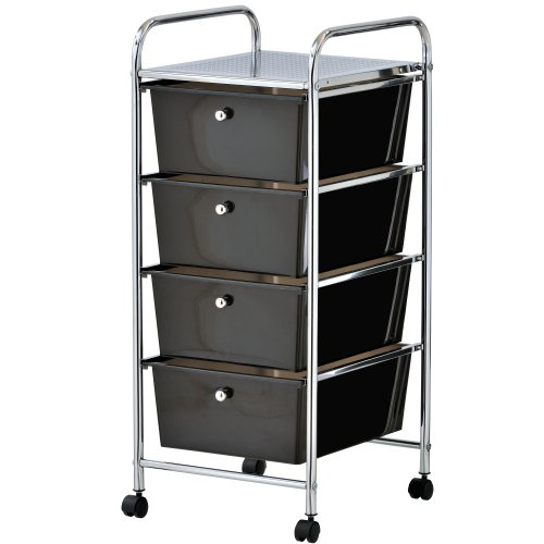 VonHaus 4 Drawer Storage Trolley...