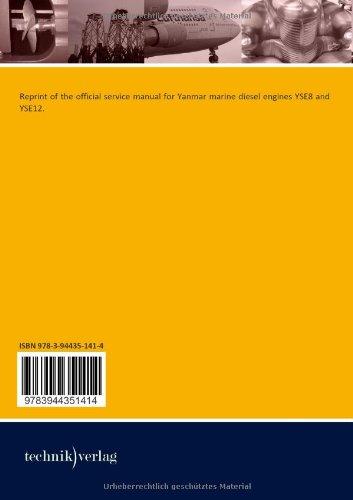 Yanmar Marine Diesel Engine yse 8 & yse12: Service Manual