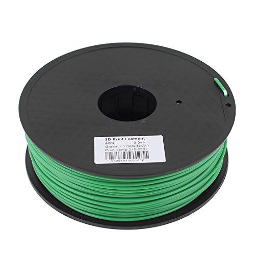 Preisvergleich Produktbild sourcingmap® Grün 3mm ABS 1kg / 2, 2lb 3D Drucker Filament für RepRap Ultimaker ULT de