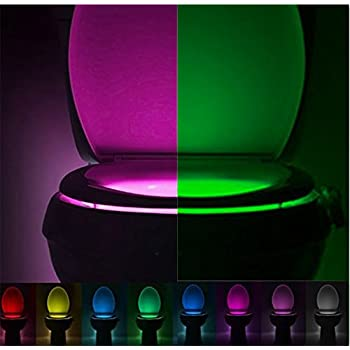 Toilet light solmore led auto motion activated toilet night wc toilet night light yowao automatic activation motion sensor led light lamp 8 colors changes mozeypictures Images