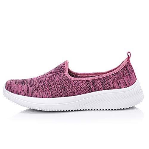 Scarpe da Corsa Scarpe Comode Sneakers Basse Donna Scarpe alla Moda Scarpe Running Scarpe Casual Donna Traspiranti Fondo Piatto Scarpe Ginnastica Sportive Running