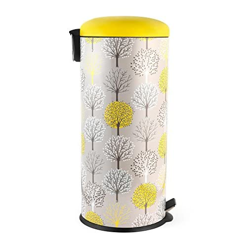 Salter BW05078 Natural Trees 30 Litre Yellow Kitchen Bin