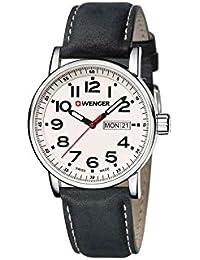 WENGER Unisex-Armbanduhr Analog Quarz Edelstahl 01.0341.101