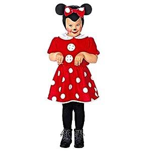 WIDMANN 36128 - Disfraz infantil de ratón para niña, color rojo