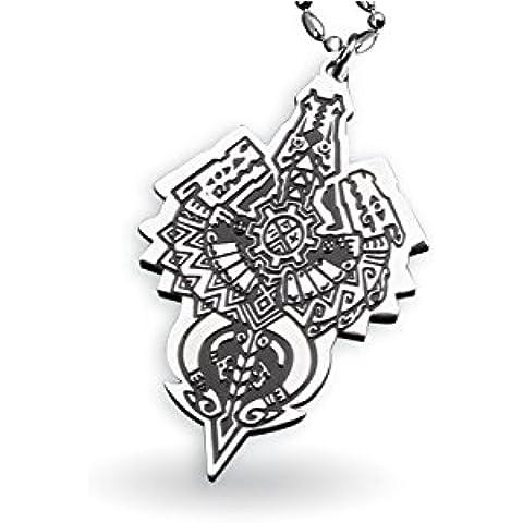 Monjiang Mostro Titanio Acciaio Hunter drago pendente della collana di Totem, Monster Hunter collana per gli uomini