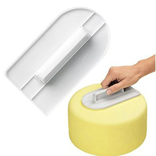 lumanuby 1pieza Fondant Alisador para DIY Hornear plástico Cake Smothie Potencia Con Mango 14.5cm * 8.2cm, tartas DIY accesorios