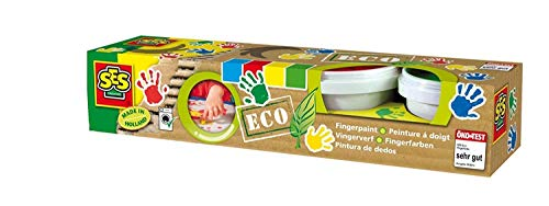 SES Creative 24926 ECO 4 Farben Abwaschbare fingerfarbe, BlauGrünRotGelb