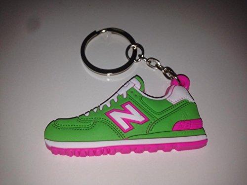 Preisvergleich Produktbild New Balance 574 Schlüsselanhänger Grün Sneaker Keychain Pink