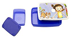 Signoraware Dream Land Compact Plastic Lunch Box Set, Violet