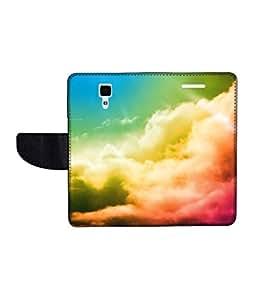 KolorEdge Printed Flip Cover For Redmi Xiaomi MI4 Multicolor - (50KeMLogo11618XiaomiMI4)